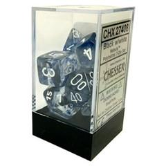 7CT NEBULA POLY DICE SET, BLACK/WHITE CHX27408