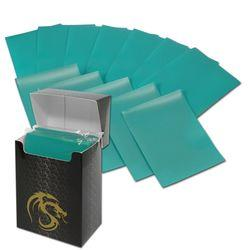 BCW DECK GUARD DECK PROTECTOR SLEEVE MATTE TEAL DGM80-TEL, 80 C