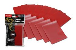 BCW DECK GUARD DECK PROTECTOR SLEEVE MATTE RED DGM-RED, 50 COUN