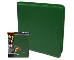 BCW Z-FOLIO 12 POCKET LX BINDER GREEN BCWZF12LXG