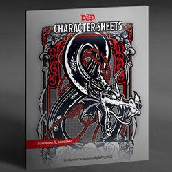 DUNGEONS AND DRAGONS CHARACTER SHEETS AND FOLIO (SET OF 24 SHEE