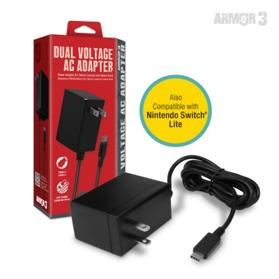 Dual Voltage AC Adapter for Switch Console and Dock