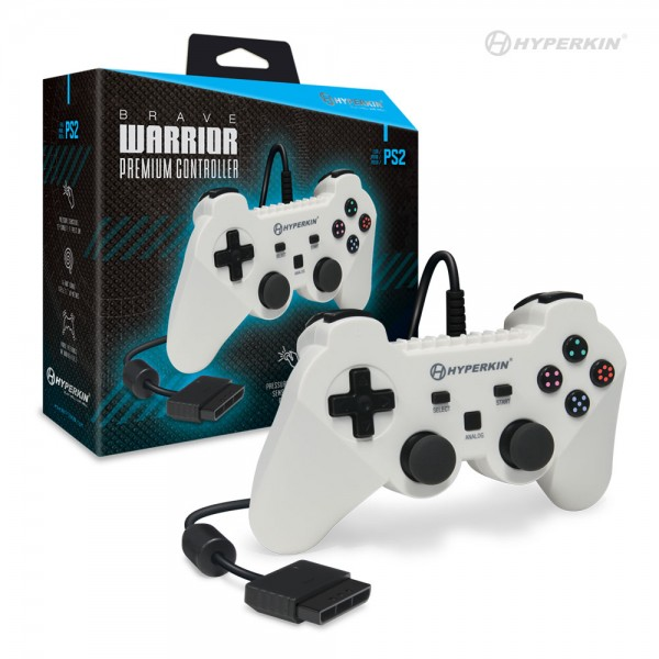 "PS2 Controller "" Brave Warrior ""White"""
