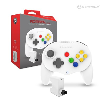"""Admiral"" Premium BT Controller for N64 White"