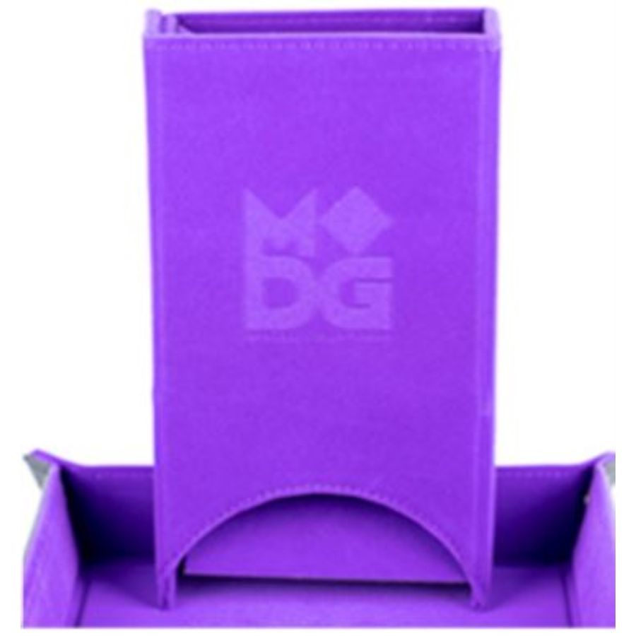 FOLD UP VELVET DICE TOWER: PURPLE MD547