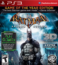 Batman Arkham Asylum Game of The Y (Playstation 3) [USED]