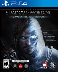 Middle-earth Shadow of Mordor Game (Playstation 4) [USED]