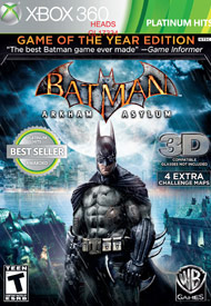 Batman Arkham Asylum Game of The Y (Xbox 360) [USED]