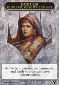 Emblem - Elspeth, Knight-Errant // Soldier Token